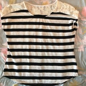 Tops - Lacy Striped Top